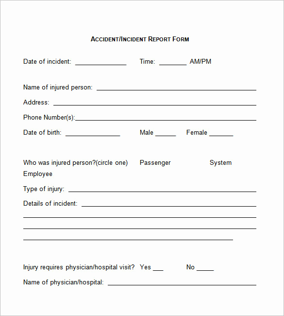 Incident Report Template Word Awesome 50 Incident Report Templates Pdf Docs Apple Pages