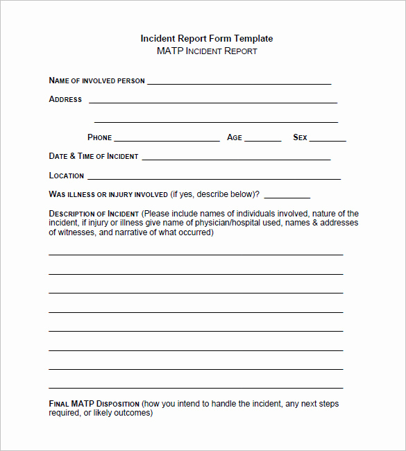 Incident Report Template Word Beautiful 50 Incident Report Templates Pdf Docs Apple Pages