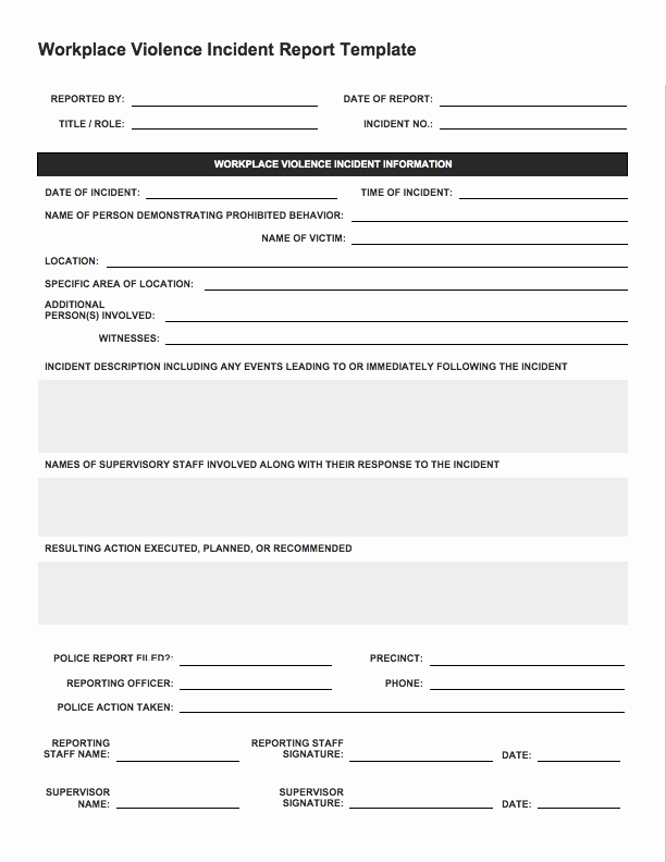 Incident Report Template Word Best Of Incident Report Template Beepmunk