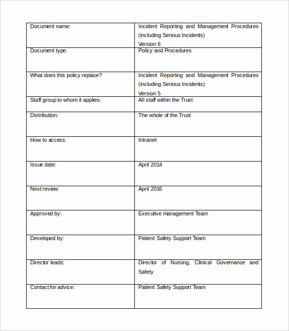 Incident Report Template Word Fresh Management Report Template 35 Word Pdf Apple Pages