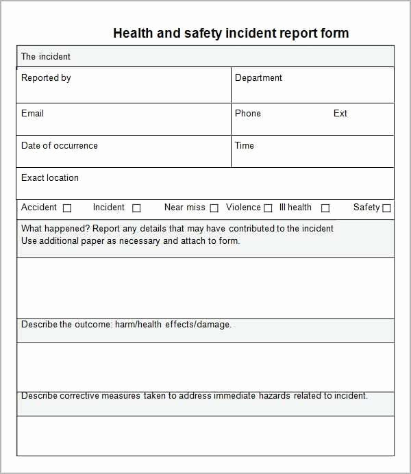Incident Report Template Word Lovely 10 Incident Report Templates Word Excel Pdf formats