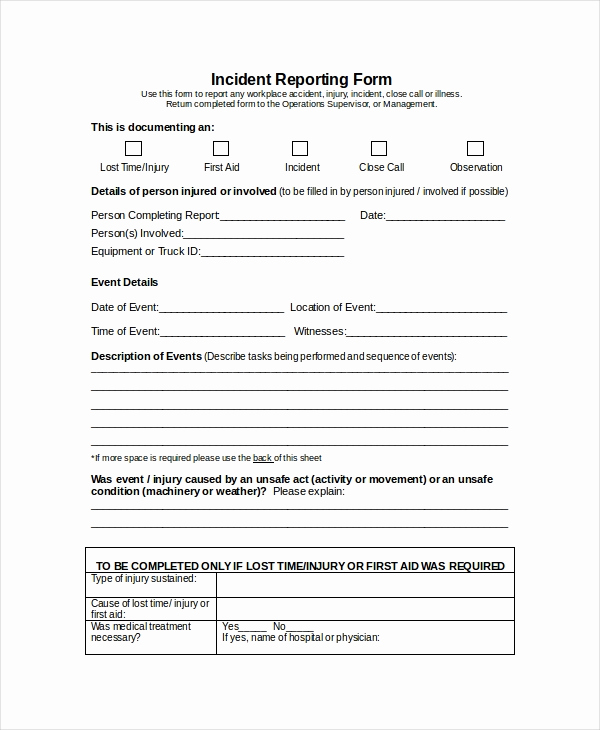 Incident Report Template Word Lovely Word Report Template 8 Free Word Document Downloads