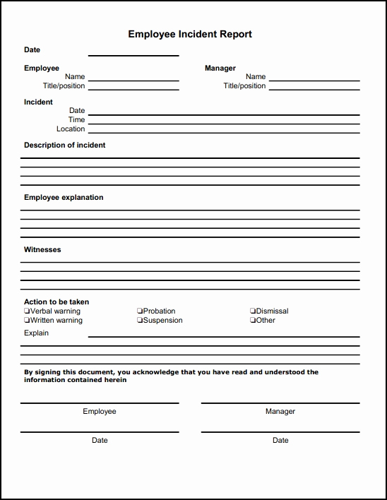 Incident Report Template Word New 13 Incident Report Templates Excel Pdf formats