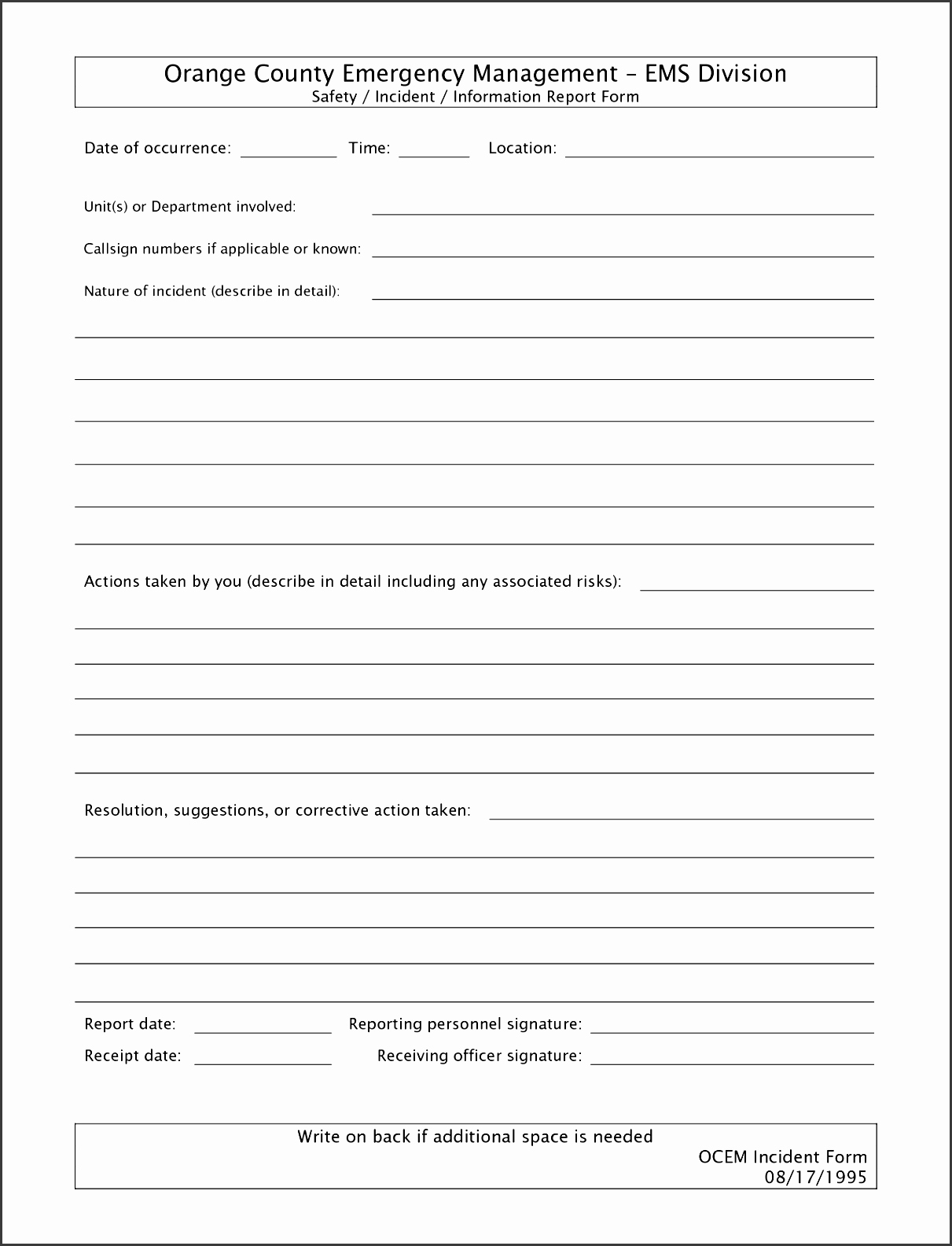 Incident Report Template Word Unique 10 Crime Incident Report Template Sampletemplatess