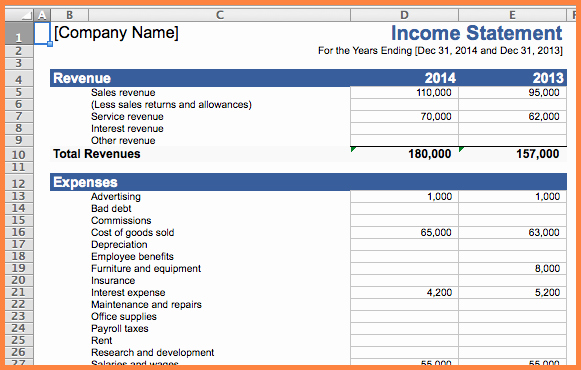 Income and Expense Worksheet Best Of 5 Business Expense and In E Spreadsheet