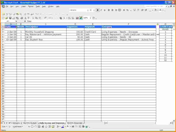 Income and Expense Worksheet New Excel Spreadsheet Template for Expenses Spreadsheet