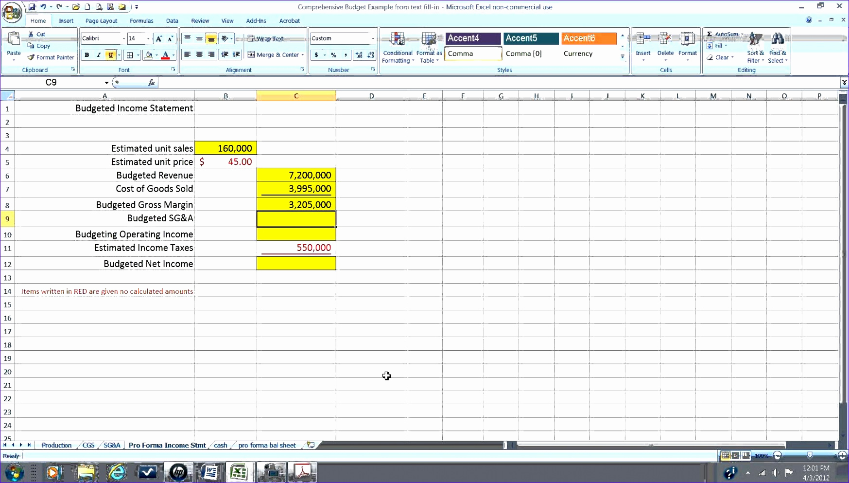 Income Statement Template Excel Elegant 8 Pro forma In E Statement Excel Template