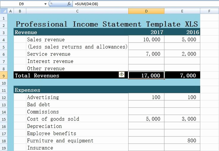 Income Statement Template Excel Inspirational 623 Best Images About Excel Project Management Templates