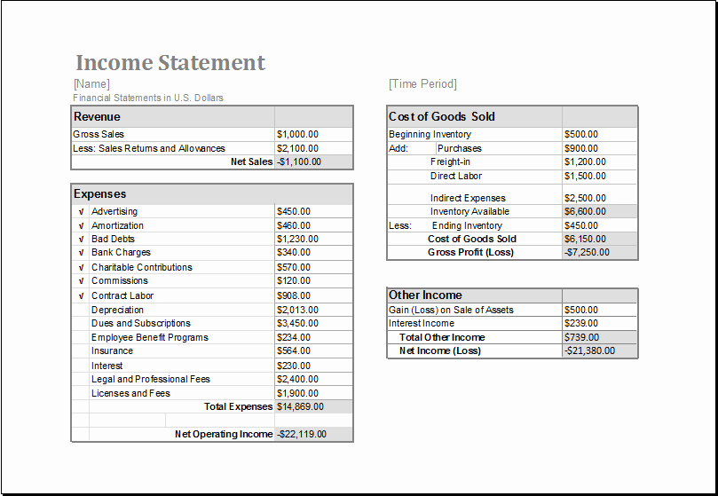 Income Statement Template Excel Inspirational Pin by Alizbath Adam On Daily Microsoft Templates