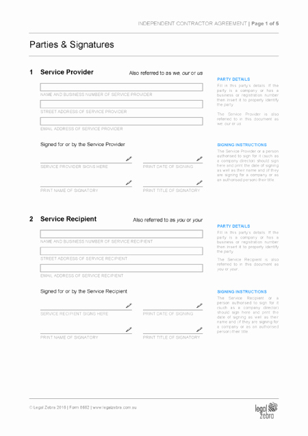 Independent Contractor Agreement Pdf Inspirational Independent Contractor Agreement Template
