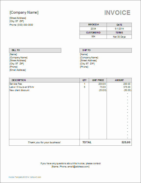 Independent Contractor Invoice Template Awesome Independent Contractor Invoice Bonsai