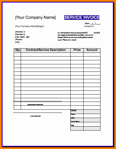 Independent Contractor Invoice Template Beautiful Invoice Template Contractor