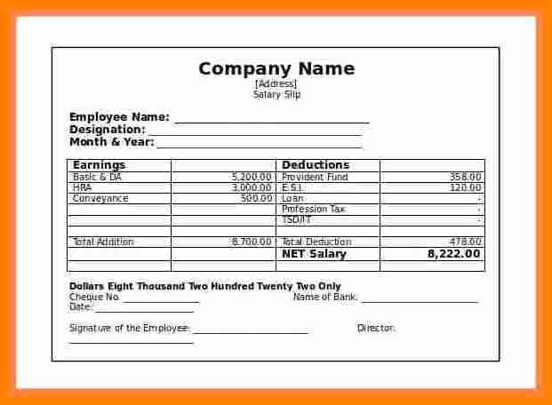 Independent Contractor Pay Stub Template Awesome 5 Contractor Pay Stub