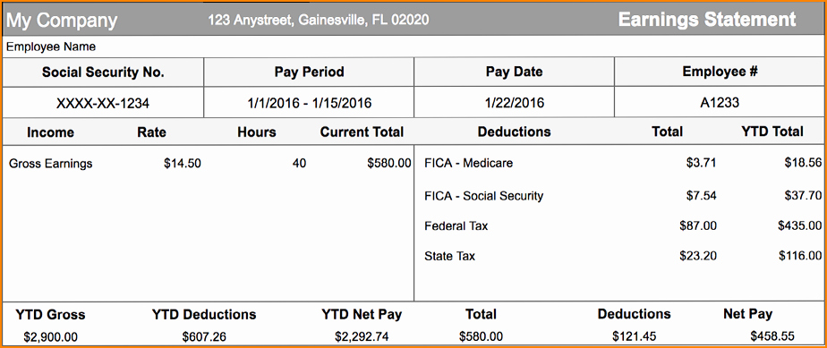 Independent Contractor Pay Stub Template Awesome 6 Contractor Pay Stub