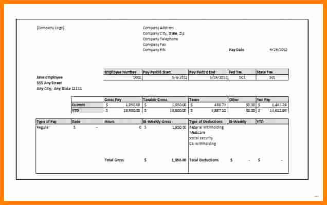 Independent Contractor Pay Stub Template Beautiful 7 Independent Contractor Pay Stub