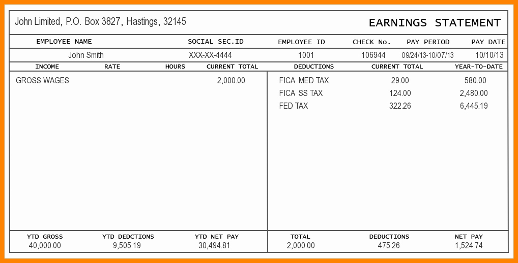 Independent Contractor Pay Stub Template Unique 5 Independent Contractor Pay Stub Template