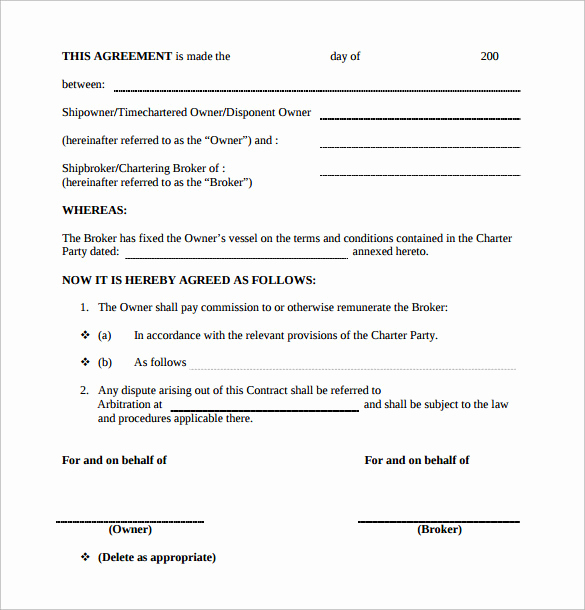 Independent Contractor Sales Commission Agreement Inspirational 12 Mission Contract Templates to Download for Free