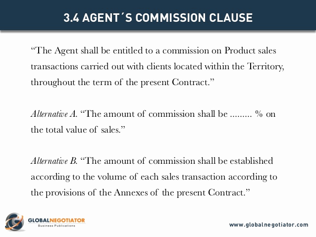 Independent Contractor Sales Commission Agreement Inspirational Sales Agency Agreement Template