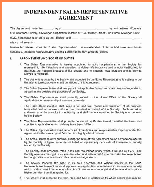 Independent Contractor Sales Commission Agreement Lovely 7 Independent Sales Rep Agreement Template