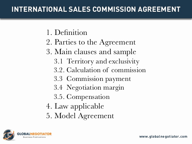 Independent Contractor Sales Commission Agreement Luxury International Sales Mision Agreement