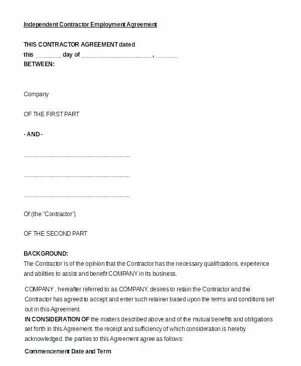 Independent Contractor Sales Commission Agreement Unique Sample Mission Agreement Template Sales Free Download
