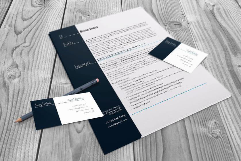 Indesign Business Card Template New Resume and Business Card Set Indesign Cs4 Template