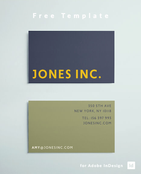 Indesign Business Cards Templates Beautiful Free Indesign Business Card Template with A Bold Modern
