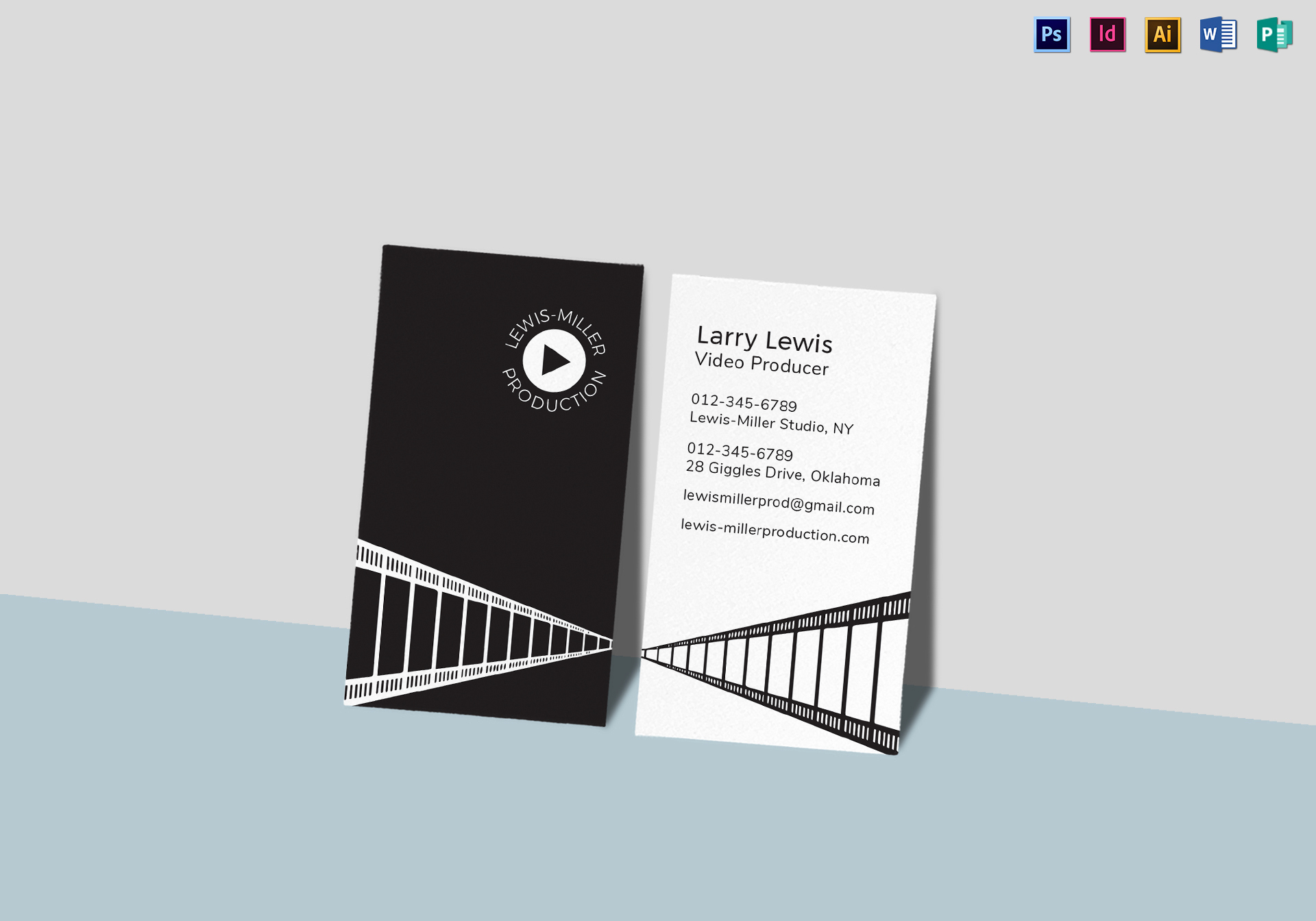 Indesign Business Cards Templates Best Of Video Producer Business Card Template In Psd Word