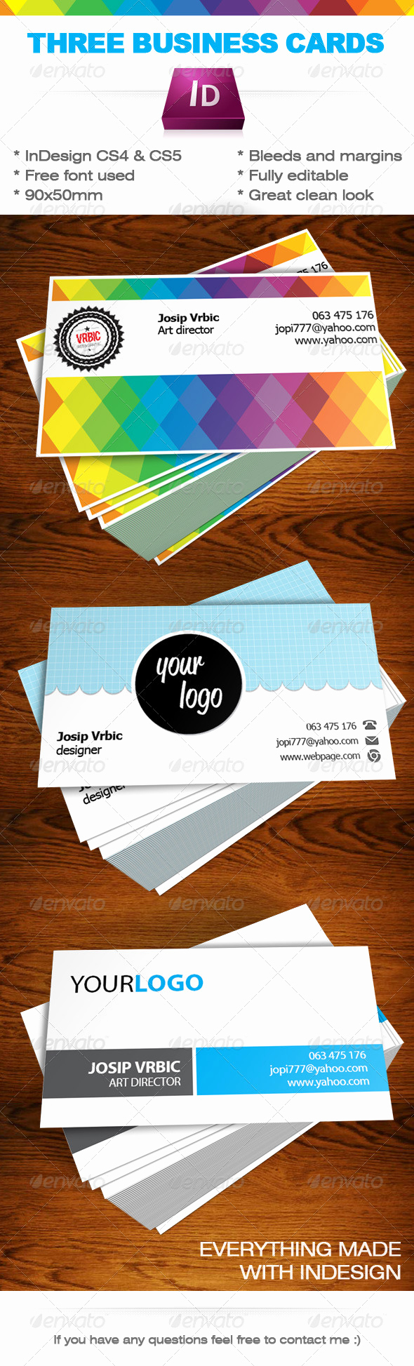 Indesign Business Cards Templates Inspirational Business Cards Indesign Templates