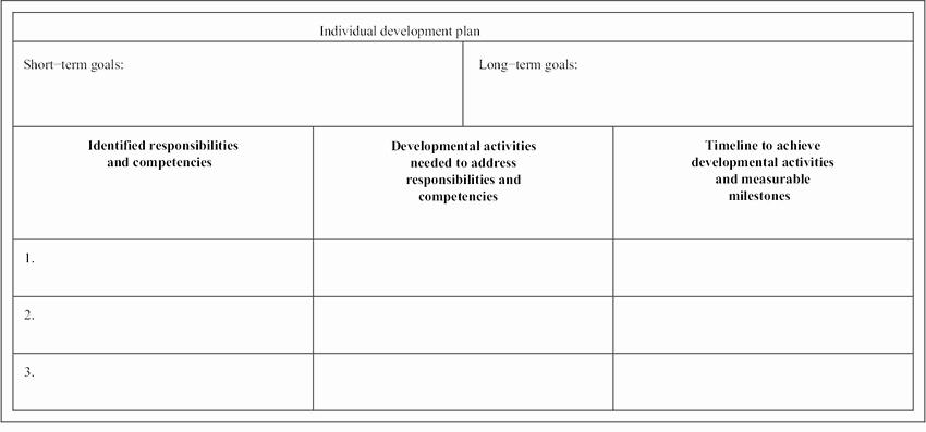 Individual Development Plan Examples Luxury Sample Of An Individual Development Plan Idp Template