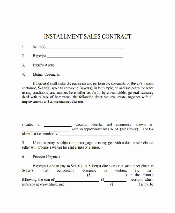 Installment Payment Agreement Template Awesome 7 Installment Contract form Samples Free Sample