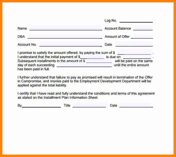 Installment Payment Agreement Template Awesome 8 Installment Payment Contract Template