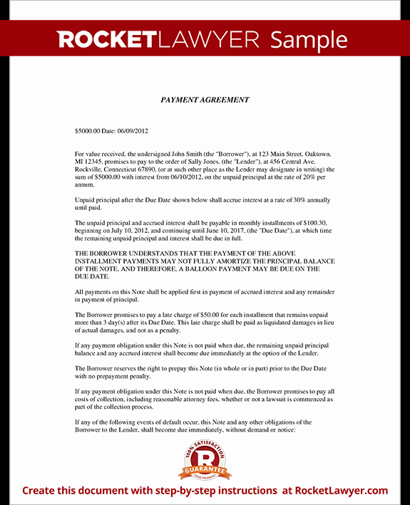 Installment Payment Agreement Template Beautiful Installment Agreement Payment Agreement Contract