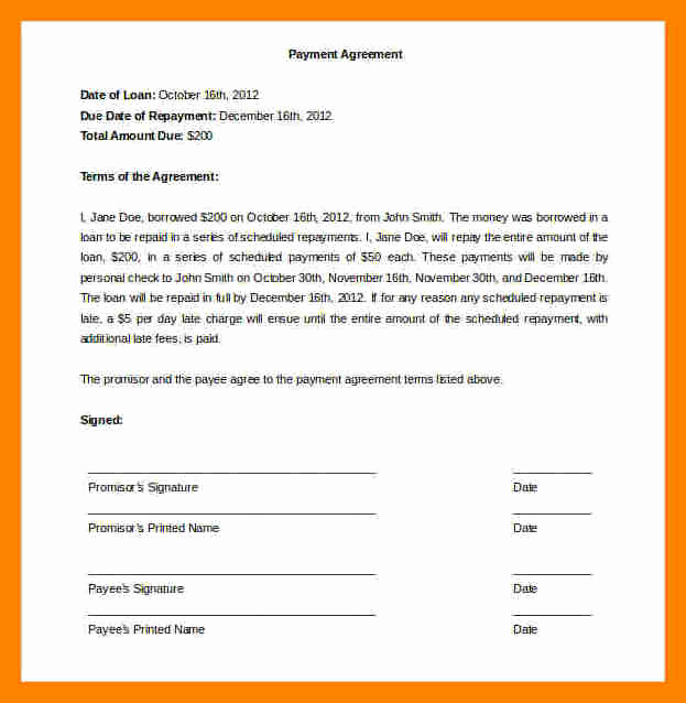 Installment Payment Agreement Template Best Of 12 Installment Payment Agreement Template