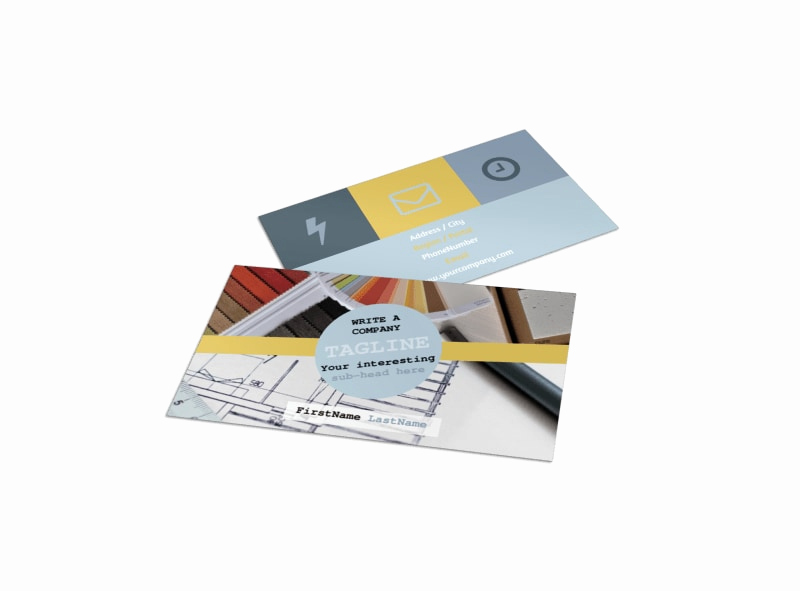 Interior Design Business Cards Awesome Interior Designer Business Card Template