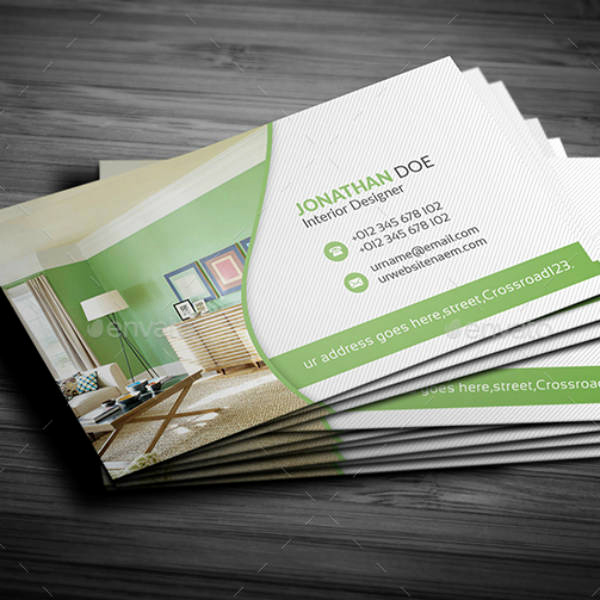 Interior Design Business Cards Beautiful 21 Interior Design Business Card Templates Ai Ms Word