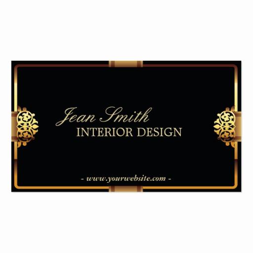 Interior Design Business Cards Elegant Deluxe Gold Frame Interior Design Business Card