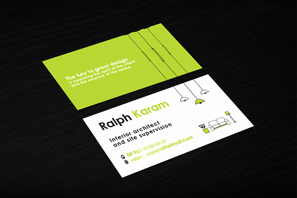 Interior Design Business Cards Fresh Interior Designer Business Card On Behance