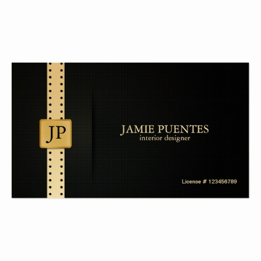 Interior Design Business Cards Fresh Metallic Platinum Gold & Black Interior Design Double