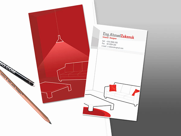 Interior Design Business Cards Unique Interior Designer Business Card On Behance