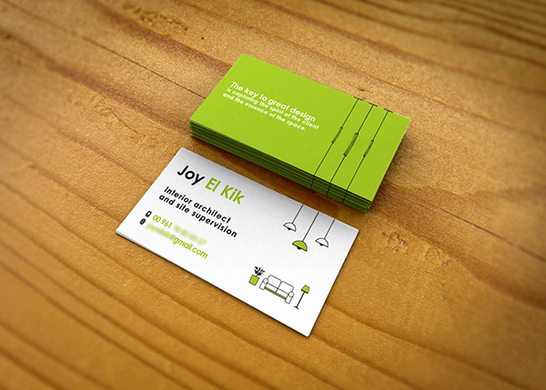 Interior Design Business Cards Unique Interior Designer Business Card On Behance