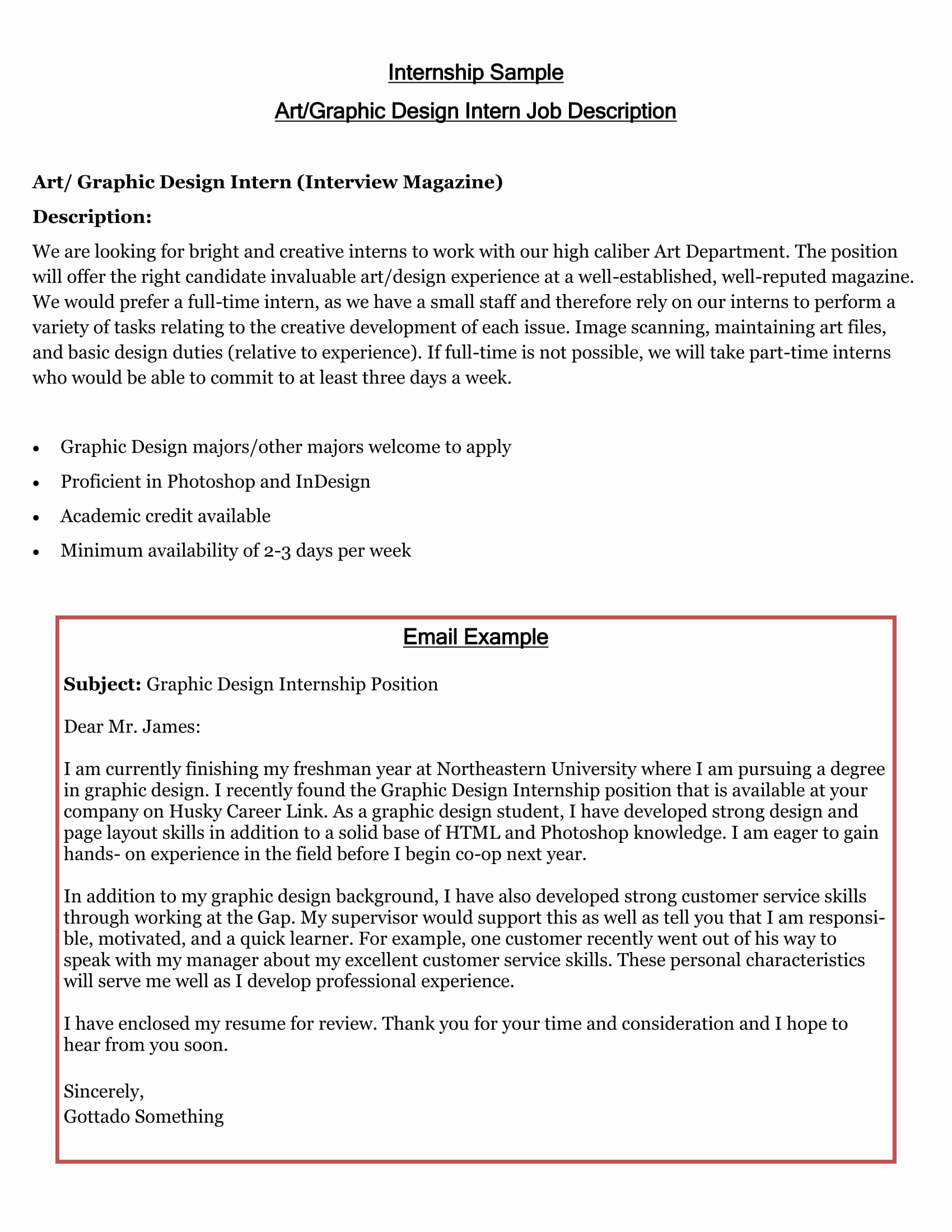 Internship Cover Letter Sample Beautiful 16 Best Cover Letter Samples for Internship Wisestep