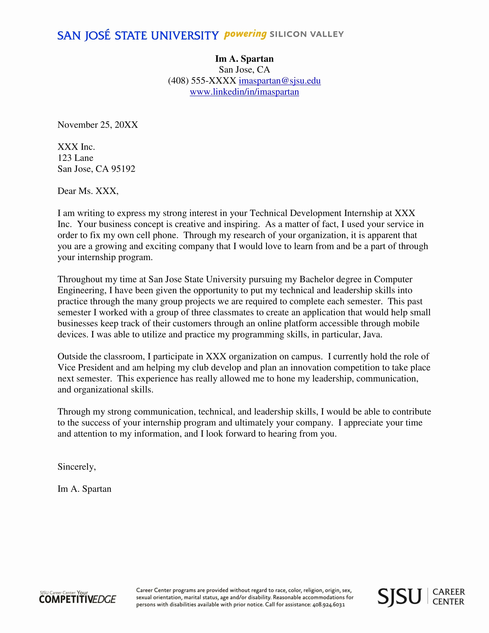 Internship Cover Letter Template Best Of 30 Cover Letter Examples for Internship Cover Letter