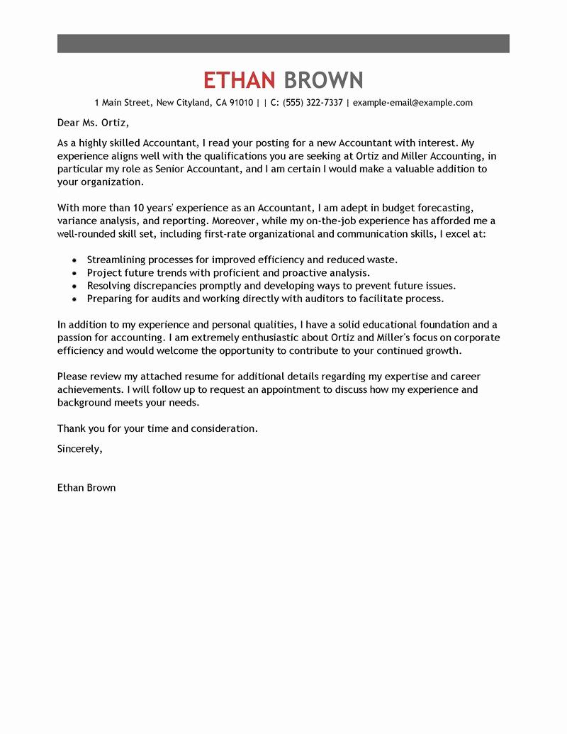 Internship Cover Letter Template Elegant Accounting Internship Cover Letter Sample