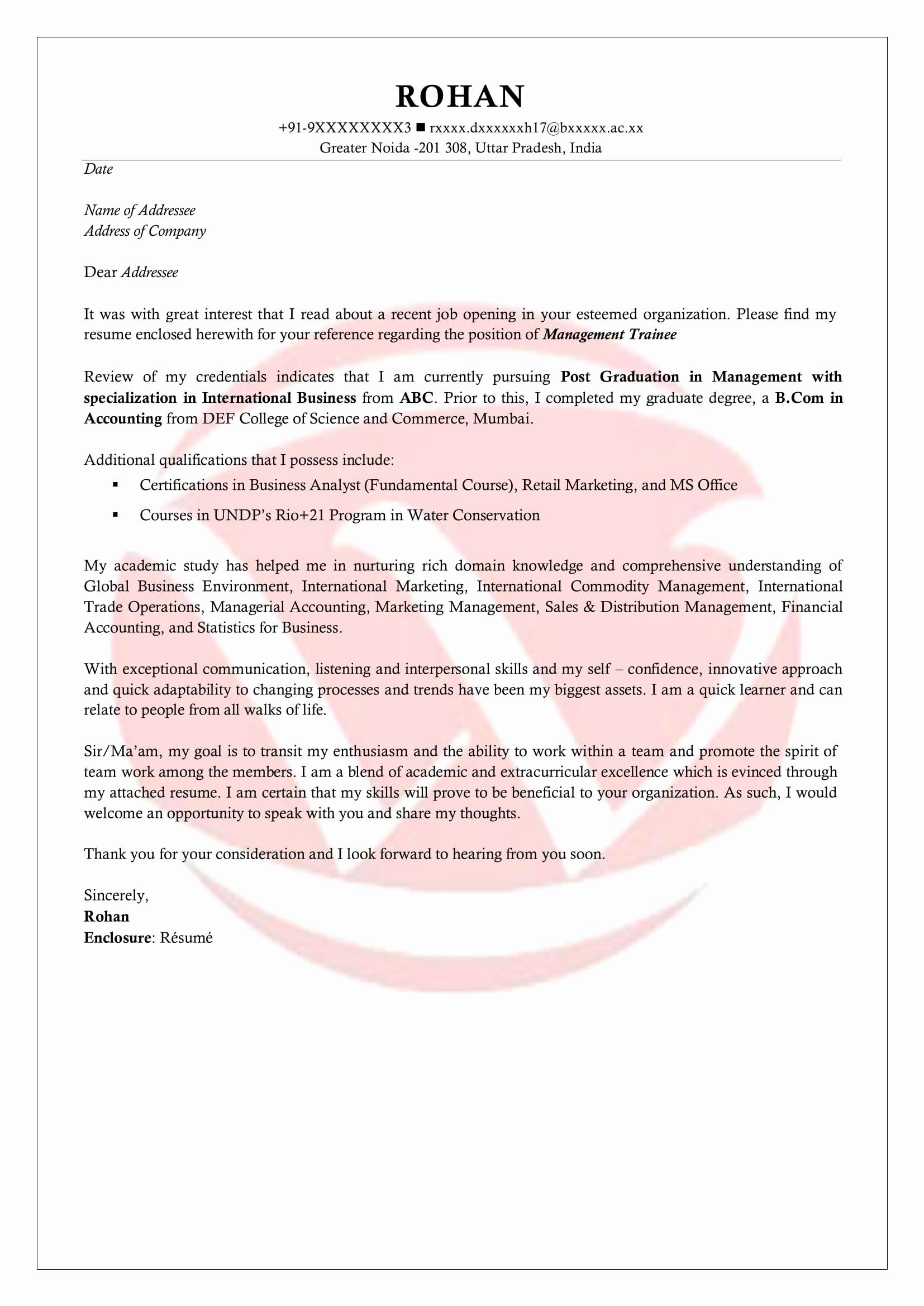 Internship Cover Letter Template Elegant Internship Sample Cover Letter format Download Cover
