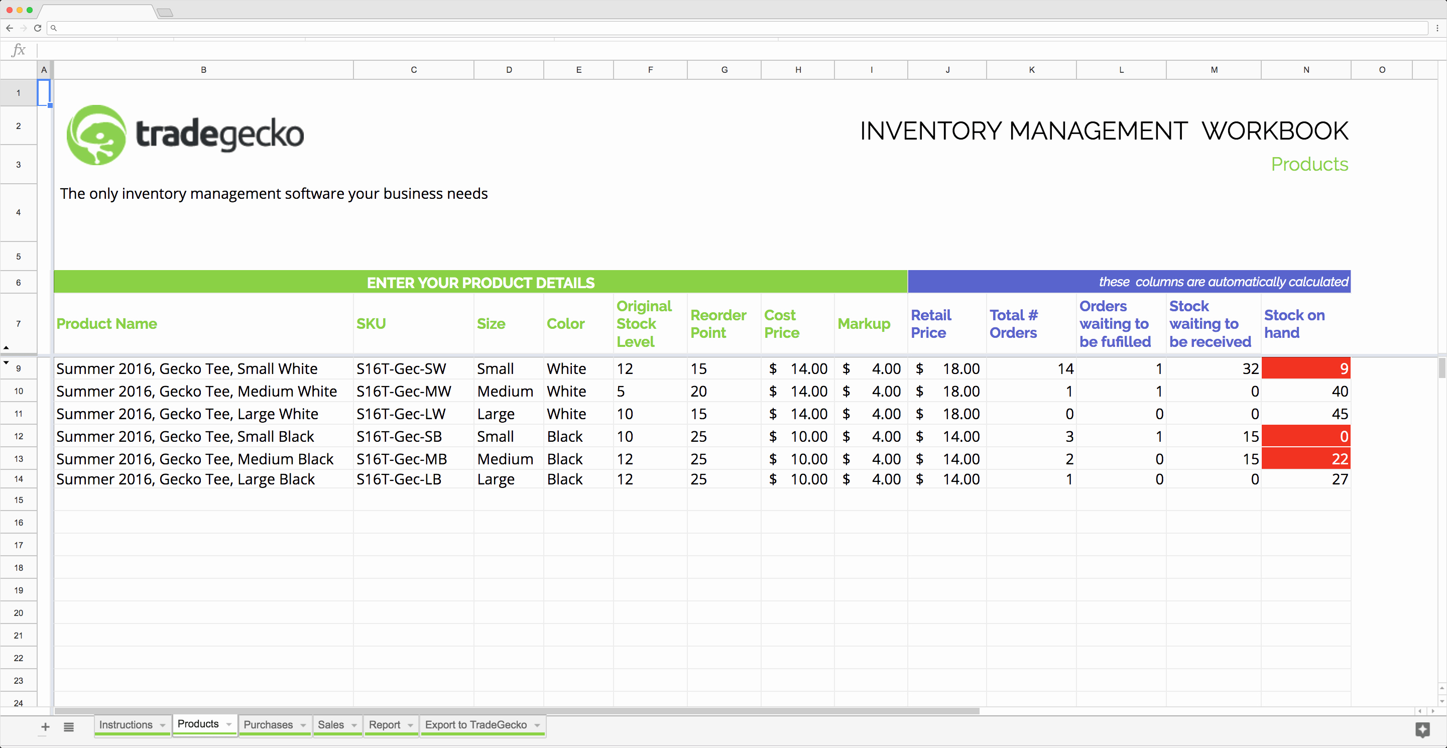 Inventory Template Google Sheets Awesome top 5 Free Google Sheets Inventory Templates Blog Sheetgo
