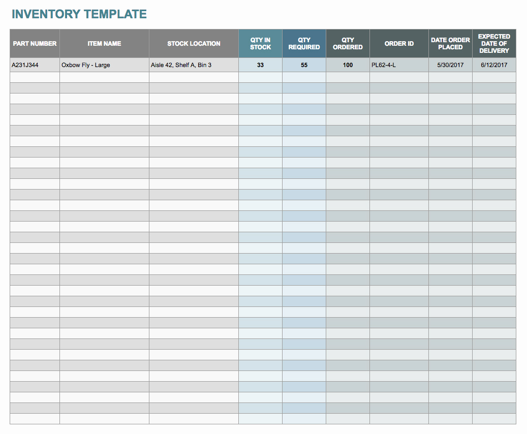 Inventory Template Google Sheets Inspirational Free Google Docs and Spreadsheet Templates Smartsheet