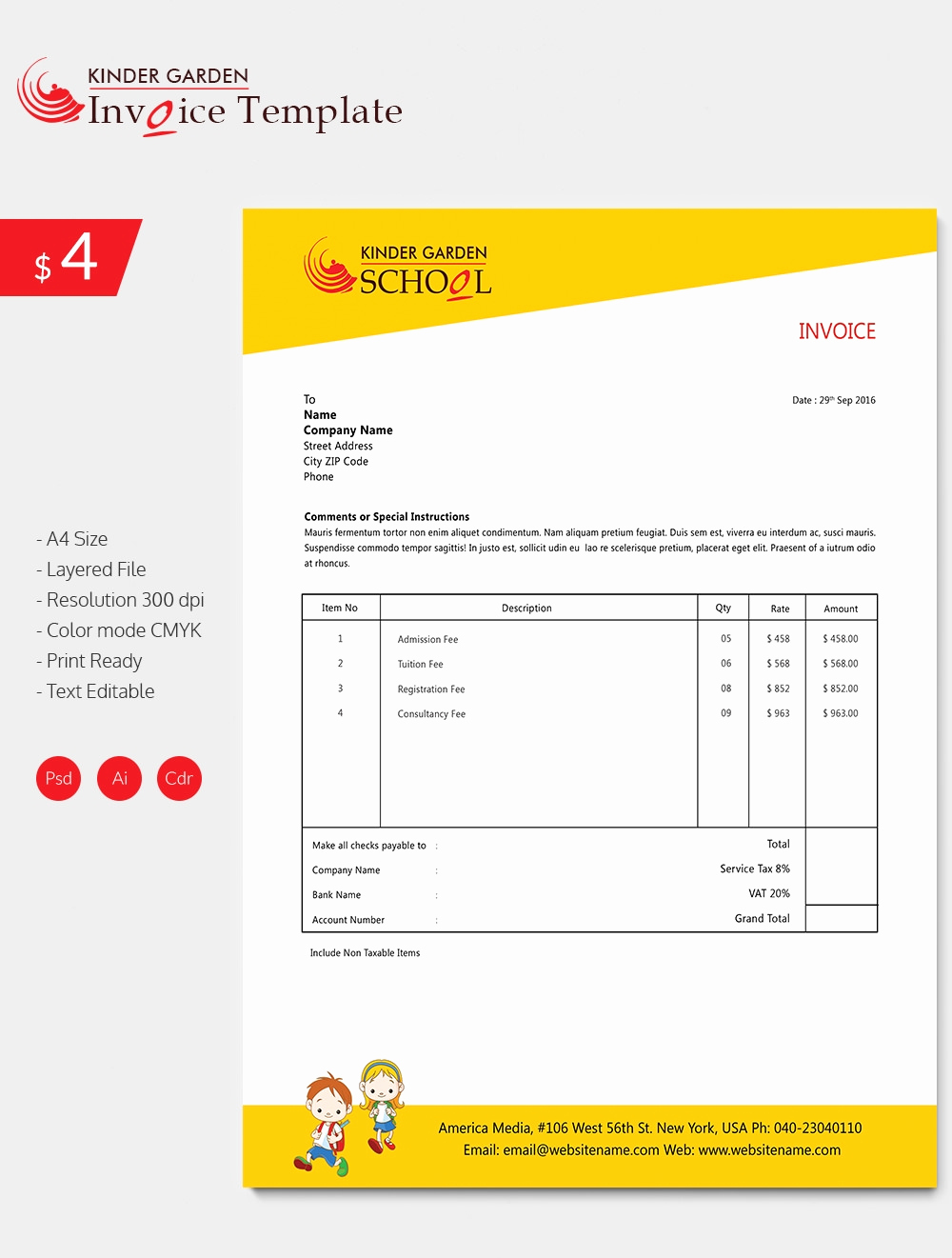 Invoice format In Word Best Of Invoice Template 41 Free Word Excel Pdf Psd format