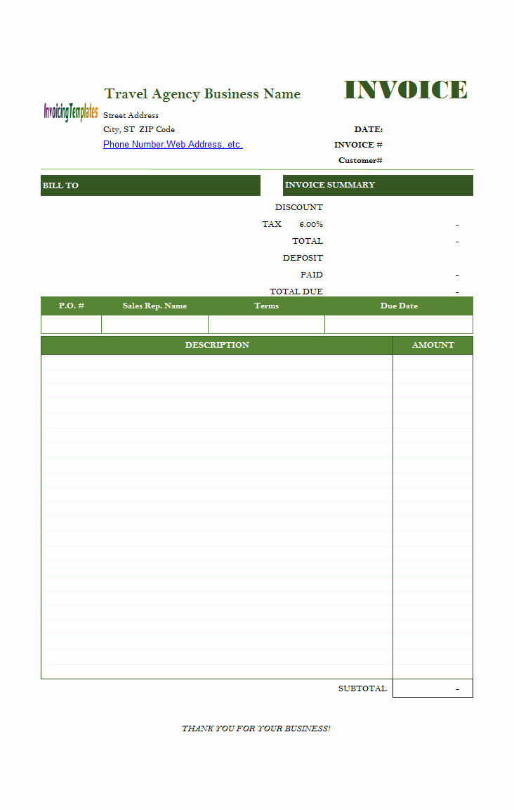 Invoice format In Word Inspirational Travel Service Bill format Dubai In 2019