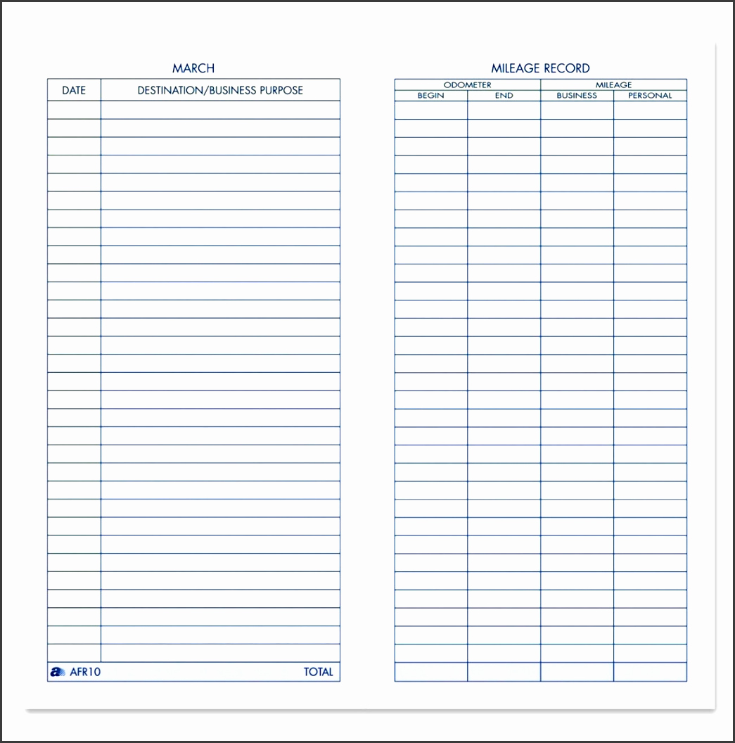 Irs Mileage Log Template Best Of 5 Vehicle Mileage Log Templates Sampletemplatess